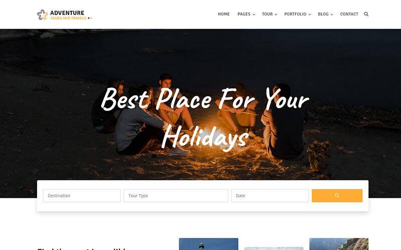 Adventure - Tour and Travel Agency Template