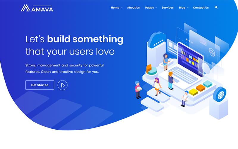 Amava - Startup Agency and SaaS Template