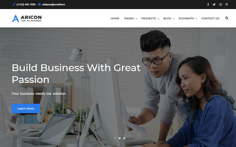 Aricon - Business and Corporate Template