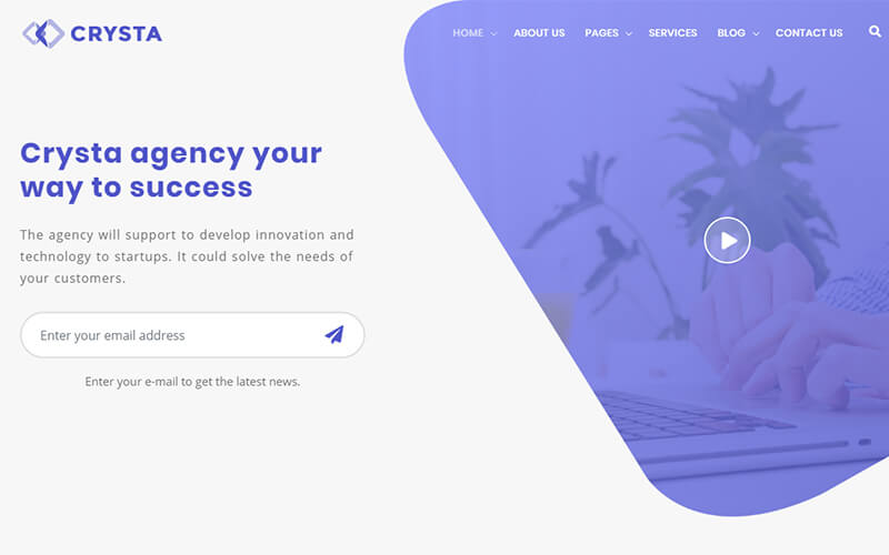 Crysta - Startup Agency and SaaS Template