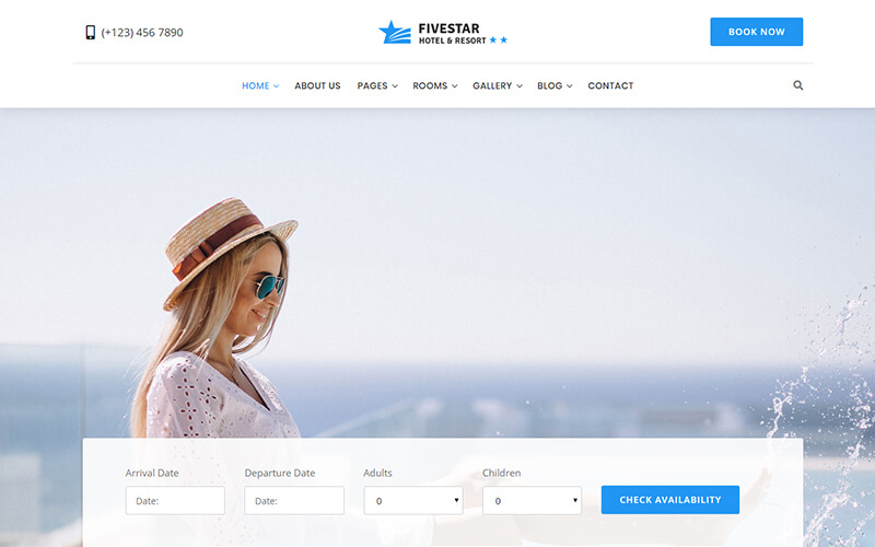 Fivestar - Hotel Booking Bootstrap Template