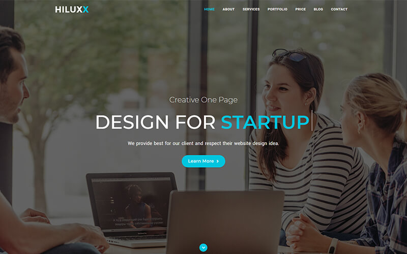 Hiluxx - Multipurpose One Page Template
