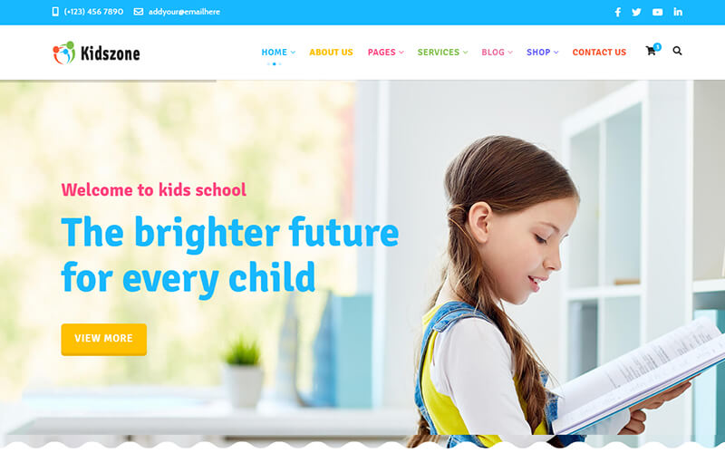 Kidszone - Kids Education and Shop Template